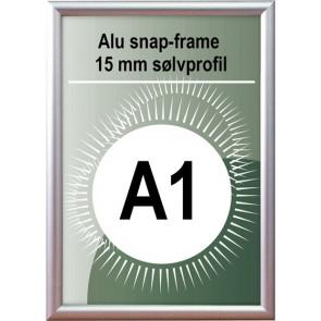 Snapramme - 15mm Profil - (A1) 59.4x84.1cm - Alu