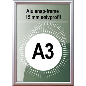 Snapramme - 15mm Profil - (A3) 29.7x42cm - Alu