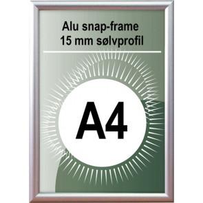 Snapramme - 15mm Profil - (A4) 21x29.7cm - Alu