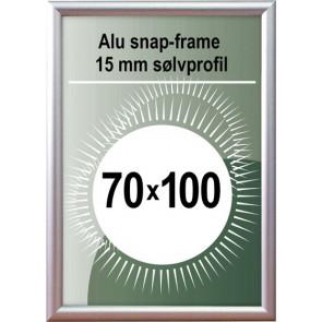 Snapramme - 15mm Profil - (B1) 70x100cm - Alu