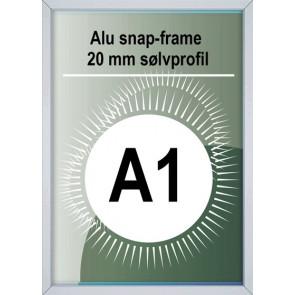 Snapramme - 20mm Profil - (A1) 59.4x84.1cm - Alu