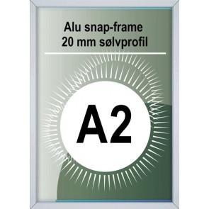 Snapramme - 20mm Profil - (A2) 42x59.4cm - Alu