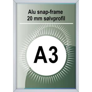 Snapramme - 20mm Profil - (A3) 29.7x42cm - Alu