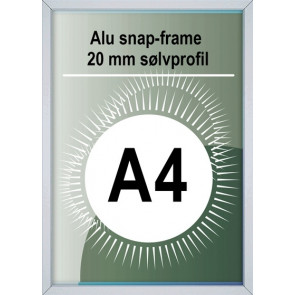 Snapramme - 20mm Profil - (A4) 21x29.7cm - Alu
