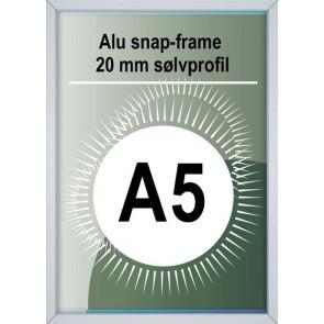 Snapramme - 20mm Profil - (A5) 14.8x21cm - Alu