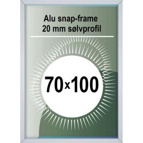 Snapramme - 20mm Profil - (B1) 70x100cm - Alu