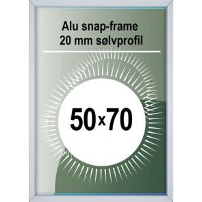 Snapramme - 20mm Profil - (B2) 50x70cm - Alu