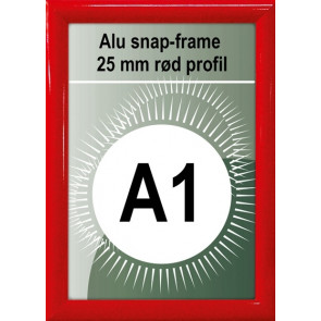 Snapramme - 25mm Profil - (A1) 59.4.x84.1cm - Rød
