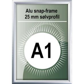 Snapramme - 25mm Profil - (A1) 59.4x84.1cm - Alu