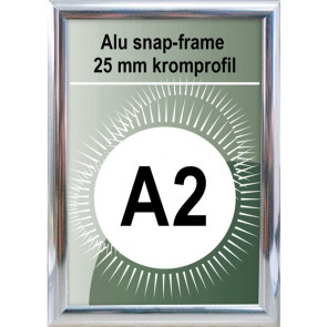 Snapramme - 25mm Profil - (A2) 42x59.4cm - Chrome