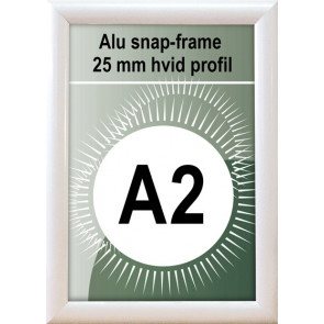 Snapramme - 25mm Profil - (A2) 42x59.4cm - Hvid