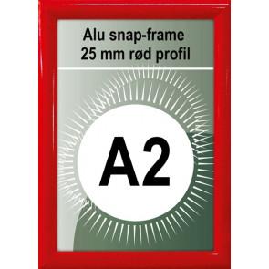 Snapramme - 25mm Profil - (A2) 42x59.4cm - Rød