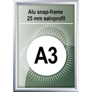 Snapramme - 25mm Profil - (A3) 29.7x42cm - Alu