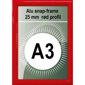 Snapramme - 25mm Profil - (A3) 29.7x42cm - Rød