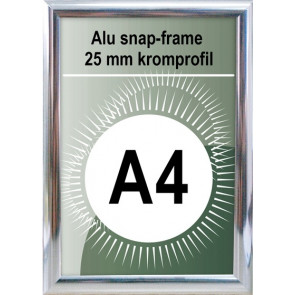 Snapramme - 25mm Profil - (A4) 21x29.7cm - Chrome