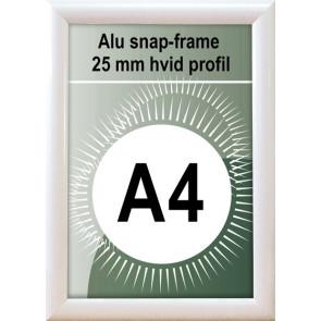 Snapramme - 25mm Profil - (A4) 21x29.7cm - Hvid