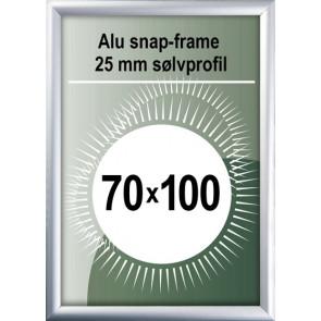 Snapramme - 25mm Profil - (B1) 70x100cm - Alu