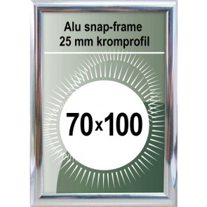 Snapramme - 25mm Profil - (B1) 70x100cm - Chrome