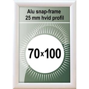 Snapramme - 25mm Profil - (B1) 70x100cm - Hvid