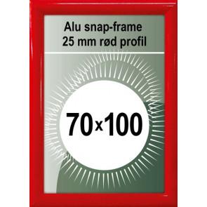 Snapramme - 25mm Profil - (B1) 70x100cm - Rød