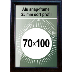 Snapramme - 25mm Profil - (B1) 70x100cm - Sort