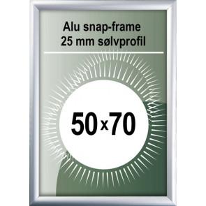 Snapramme - 25mm Profil - (B2) 50x70cm - Alu