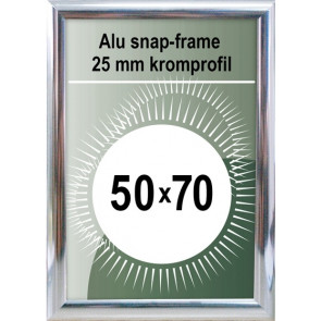 Snapramme - 25mm Profil - (B2) 50x70cm - Chrome