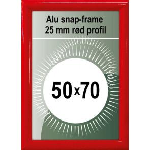 Snapramme - 25mm Profil - (B2) 50x70cm - Rød