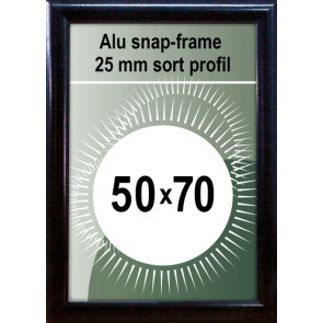 Snapramme - 25mm Profil - (B2) 50x70cm - Sort