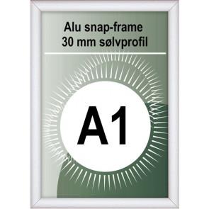 Snapramme - 30mm Profil - (A1) 59.4x84.1cm - Alu