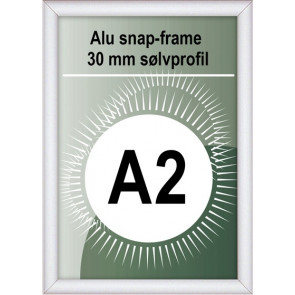 Snapramme - 30mm Profil - (A2) 42x59.4cm - Alu