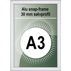 Snapramme - 30mm Profil - (A3) 29.7x42cm - Alu