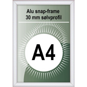 Snapramme - 30mm Profil - (A4) 21x29.7cm - Alu