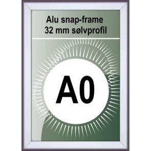 Snapramme - 32mm Profil - (A0) 84.1x118.9cm - Alu