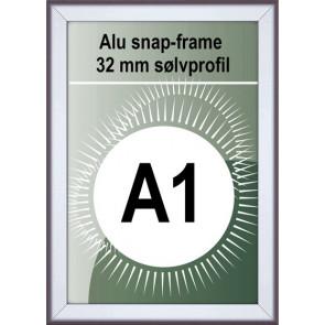 Snapramme - 32mm Profil - (A1) 59.4x84.1cm - Alu