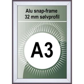 Snapramme - 32mm Profil - (A3) 29.7x42cm - Alu