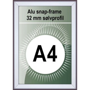 Snapramme - 32mm Profil - (A4) 21x29.7cm - Alu