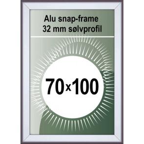 Snapramme - 32mm Profil - (B1) 70x100cm - Alu