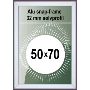 Snapramme - 32mm Profil - (B2) 50x70cm - Alu