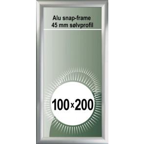 Snapramme - 45mm Profil - 100x200cm - Alu