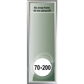 Snapramme - 45mm Profil - 70x200cm - Alu
