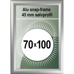 Snapramme - 45mm Profil - (B1) 70x100cm - Alu