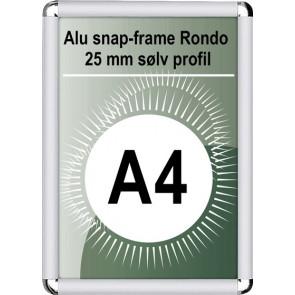 Snapramme Rondo - 25mm Profil - (A4) 21x29.7cm - Sølv