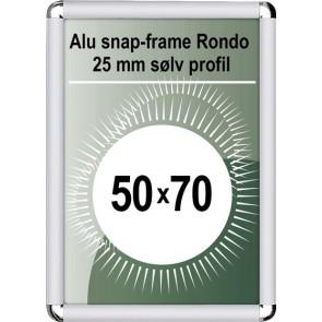 Snapramme Rondo - 25mm Profil - (B2) 50x70cm - Sølv