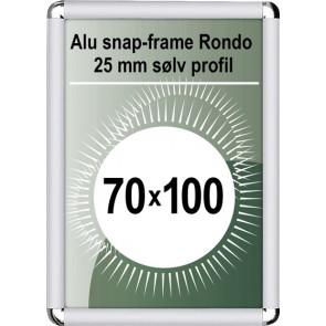 Snapramme Rondo - 25mm Profil - (B1) 70x100cm - Sølv