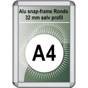 Snapramme Rondo - 32mm Profil - (A4) 21x29.7cm - Sølv