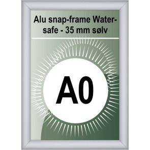 Udendørs Snapramme - 35mm Profil - (B1) 70x100cm - Sølv