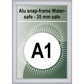 Udendørs Snapramme - 35mm Profil - (A1) 59.4x84.1cm - Sølv