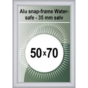 Udendørs Snapramme - 35mm Profil - (B2) 50x70cm - Sølv